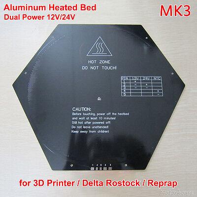 Aluminum Heated Hotbed Hot Bed Reprap Delta Kossel Rostock 3d Printer 12v 24v