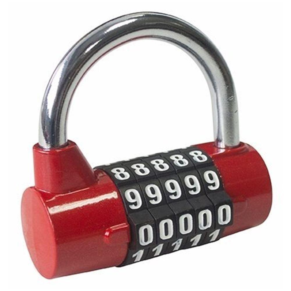 1Pcs 4-stellige Druckknopf-Kombination Vorhängeschloss Gepäck Reisecode-SchloBPA