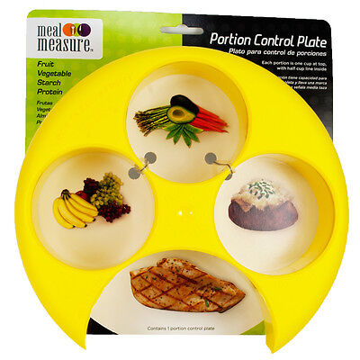(Meal Measure Portion Control Plate (Yellow) Diet Weight Loss and Healthy Eating)