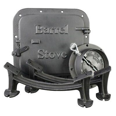 Barrel Stove Kit US Stove Cast Iron Wood Burning Drum Garage