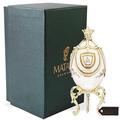 "Faberge Egg Music Box ""Fur Elise""w/ Hidden Carousel Table Top Ornament - Matashi Carousel Box Music Box"