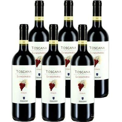 Cecchi Sangiovese di Toscana IGT Rotwein Trocken 13% vol 6 x 75cl