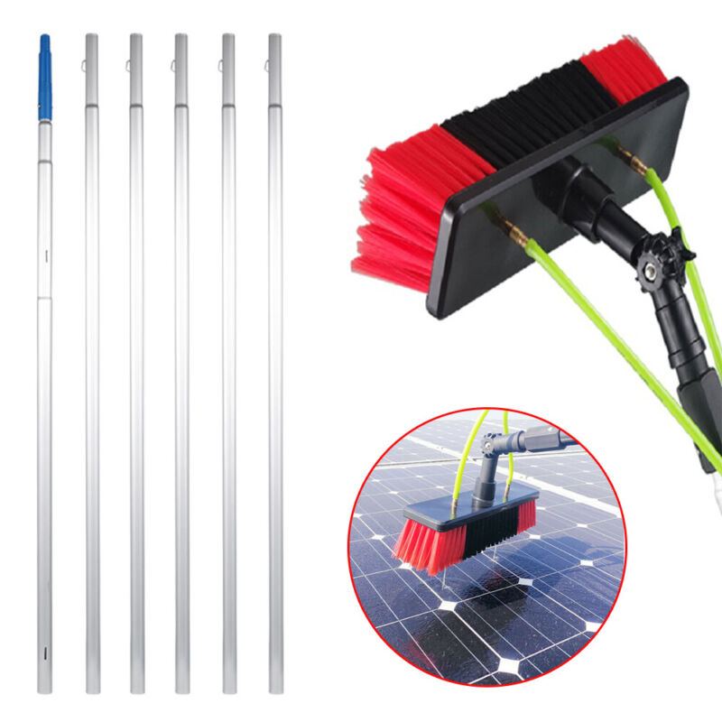 Excellent 26ft Window Cleaning Poles Water Fed Brush Water pipe Tools Equipment