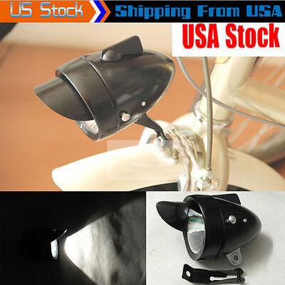 Classical Metal Vintage Bicycle Bike LED Light Headlight Front Retro Head Lamp