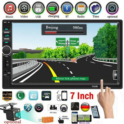 Touch Stereo (7  Autoradio Stereo Touchscreen Doppel 2Din Bluetooth MP5 AUX FM SD TF In-Dash)