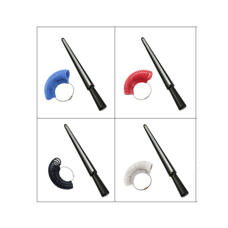 Finger Ring Sizer Gauge Stick Kunststoff Standard US Messgrößen Schmuck Werkzeug