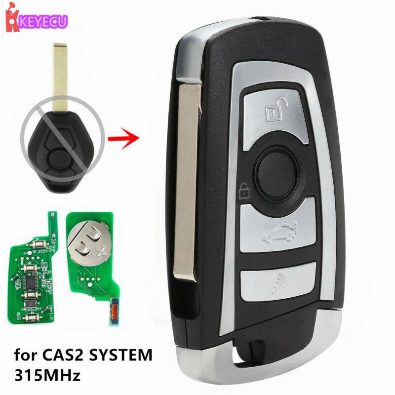 Modified Flip Transponder Remote Key 4 Button 315MHZ for BMW E60 E63 CAS2 CHIP