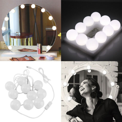 10 PCS LED Vanity Mirror Lights Kit with Dimmable Light Bulb