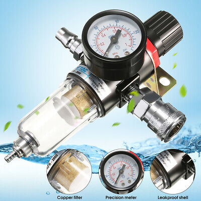 14air Compressor Moisture Filter Trap Oil Water Filter Trap Regulator Gauge