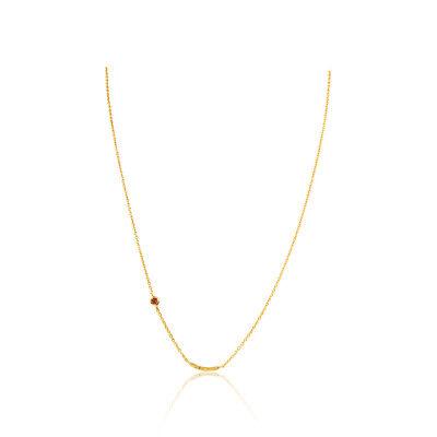 Gorjana Power Birthstone January Two Tone One size Necklace RE181110134G