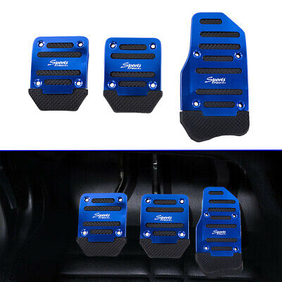 Non-Slip Car Auto Pedals Pad Cover Set Blue Universal Racing Sport Manual Truck