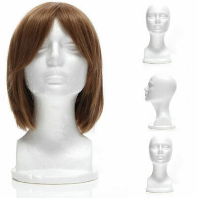 Female Styrofoam Mannequin Manikin Foam Head Model Hat Wig Display Stand Us