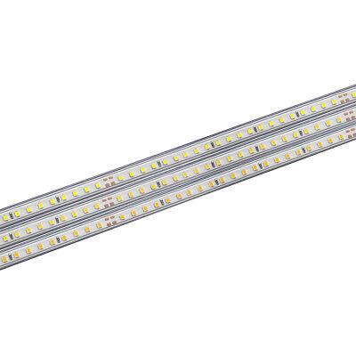 LEDBOX Tira LED 220V SMD2835, 75Led/m, 1 metro con conectores rápidos, 20cm