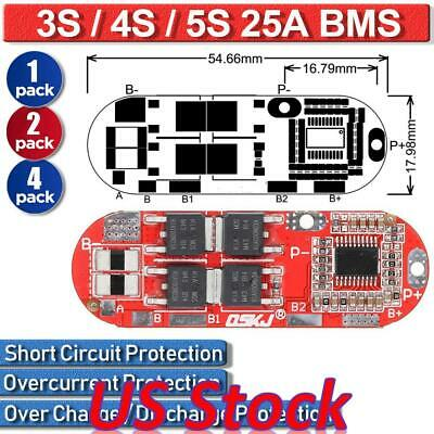 3s 4s 5s 25a 18650 Lithium Battery Bms Board Circuit Charging Module Charger Diy