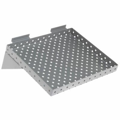 Slatwall Perforated Shelf 12 Wide Silver