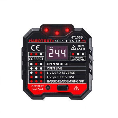 Digital Display Socket Tester Plug Polarity Phase Check Voltage Detector Useu