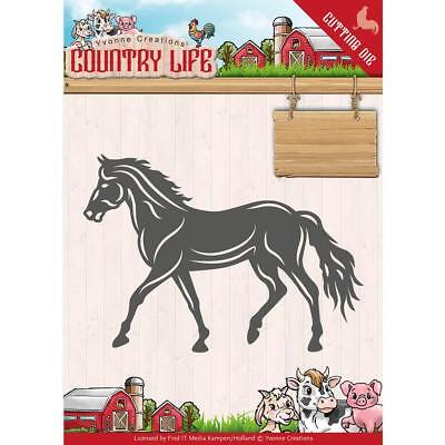 COUNTRY LIFE HORSE Die Cutting Die Find It Trading Yvonne Creations YCD10127 New