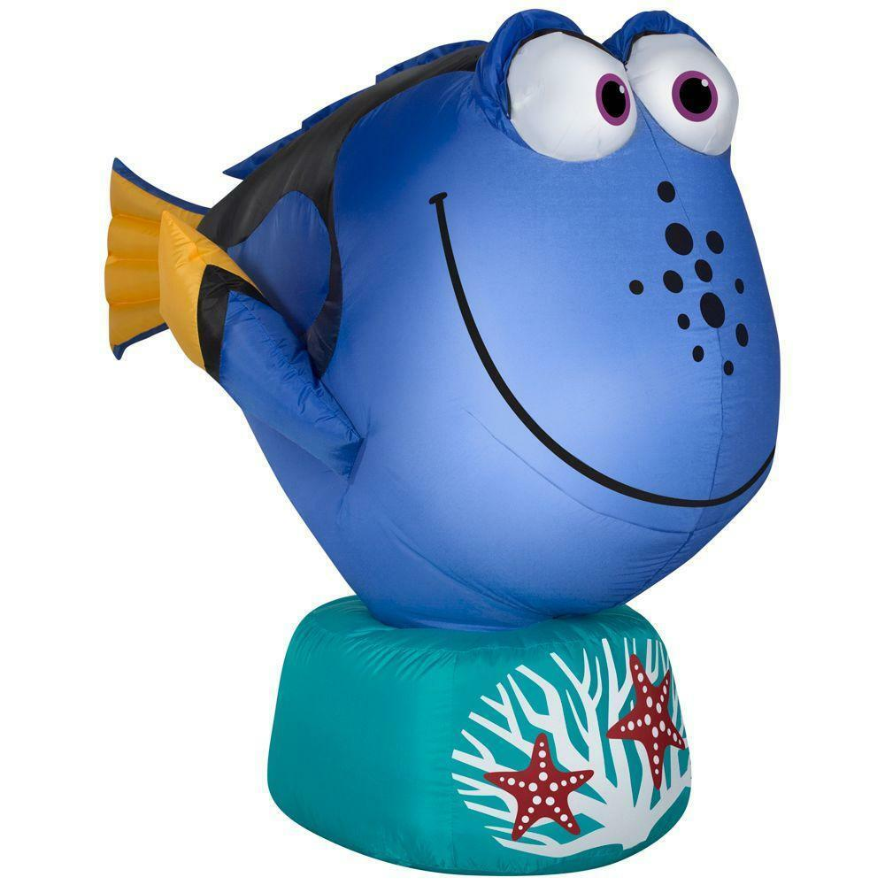 3.5' Disney Dory Finding Nemo Christmas Inflatable - Airblown Holiday Fish