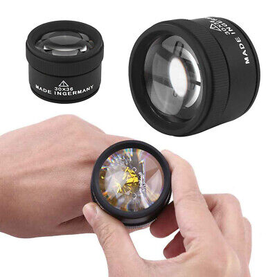 Pocket Jewellers Eye Loupe Magnifier Jewelry Magnifying Glass 30x Loupe Portable