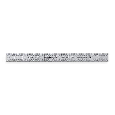 Mitutoyo 182-205 Steel Ruleflexible6in3264ths0.51mm