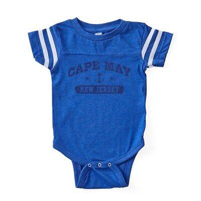 CafePress Cape May NJ Baby Football Bodysuit
