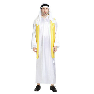 Halloween Costumes Rich Man ( Men's Rich Arab Dress Up Costume Cosplay Halloween Party)