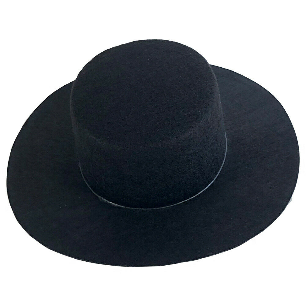 Black Top Hat for V for Vendetta Magician Plague Doctor Zorro Costume Guy Fawkes Accessories