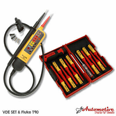 Electricians Testing Vde Tool Kit Fluke T90 13pc Insulated Screwdriver Set