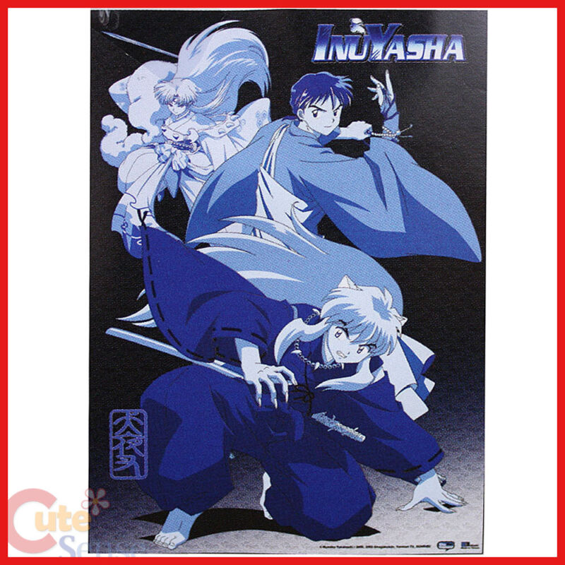 Inu Yasha Sesshomaru Wall Scroll GE9587 Fabric Poster Blue Tone