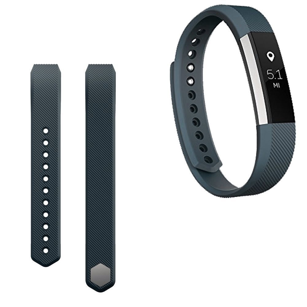 Replacement Silicone Wrist Band Strap For Fitbit Alta/ Fitbit Alta HR Gray