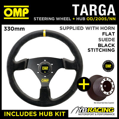 SEAT AROSA ALL 02- OMP TARGA 330mm SUEDE LEATHER STEERING WHEEL & HUB COMBO KIT