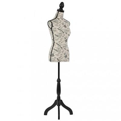 Female Mannequin Torso Dress Form Body Display Height Adjustable Tripod Stand