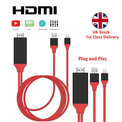 Lightning to HDMI Cable HD TV Adapter Lead 2M For iPhone 11 Pro XR XS Max 8 7 6