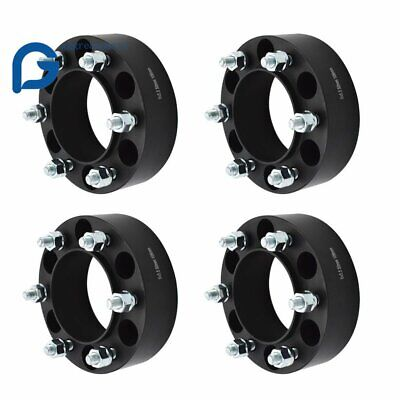 """2""""/50MM Black 6X5.5 to 6x5.5 Wheel Spacers Adapters For Toyota 4Runner Tacoma"""