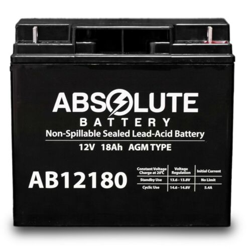 NEW AB12180 12V 18AH New Sealed AGM Battery 4 YardWorks Elec