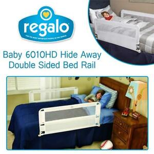 NEW Regalo Baby 6010HD Hide Away Double Sided Bed Rail (White) Condtion: New