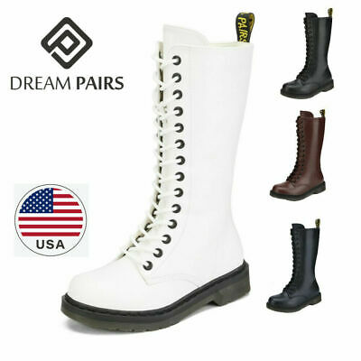 Leather Boots For Girls (DREAM PAIRS Girls Kids Martin Combat Boots Lace-Up Casual Leather Round)