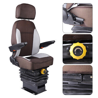 Tractor Seat With Suspension Seat Head Arm Rest For Dozer Tractor Skid Steer
