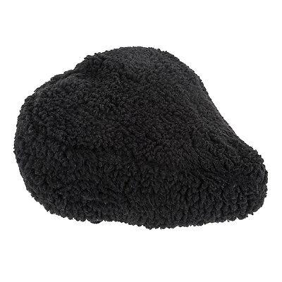 Sunlite Bicycle Fur Saddle Cover Black for Cruiser Excercise Comfort Bike Seats