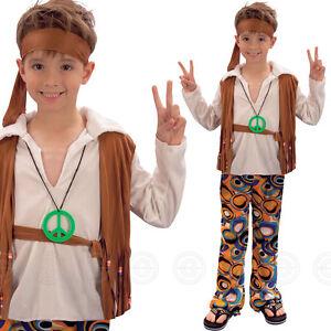 HIPPY GILS / BOYS KIDS FANCY DRESS COSTUME HIPPIE 1960S 60S 70S CHILDS BOOK WEEK