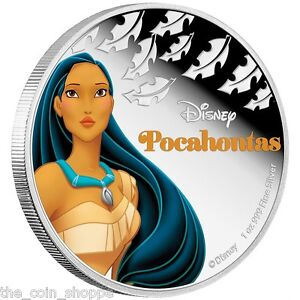 POCAHONTAS-2016-1-oz-Silver-Color-Proof-Coin-DISNEY-Princess-Series-Niue