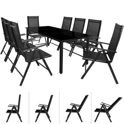 DEUBA® Alu Sitzgruppe 8+1 Gartenmöbel Essgruppe Garnitur Garten Tisch Stuhl Set