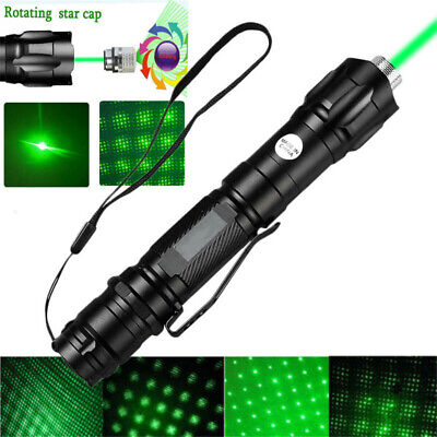 900 Miles 532nm Green Laser Pointer Star Beam Rechargeable Lazer