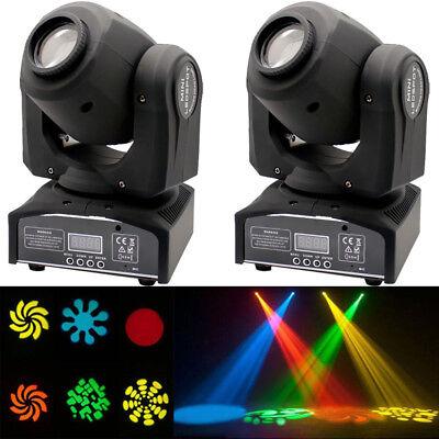 - 2PCS 30W RGBW LED Moving Head Stage Lighting DMX-512 DJ Disco XMAS Party Light