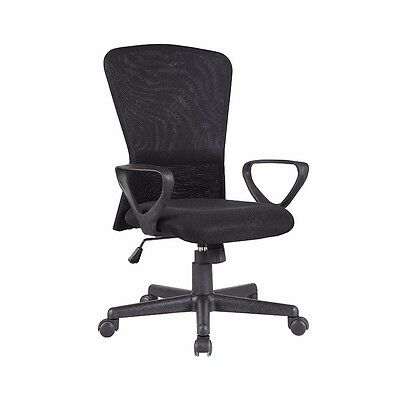 Mesh Chair Ergonomic Executive Swivel Mid-back Office Chair Computer Desk Black