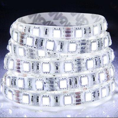 5M Cool White 5050 SMD 300 LED Strip light flexible  60led/m WATERPROOF 12V