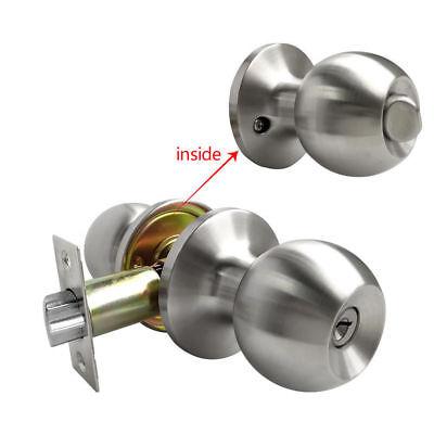 Satin Nickel Home Door Knob Lock Handle Lock Set Entry Privacy Passage Dummy