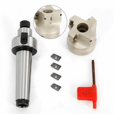 4x Apmt1604 Carbide Inserts Mt3 Fmb22 Arbor 400r 50mm Face End Mill Cutter Us