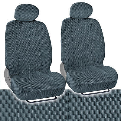 Bucket Seat Covers Premium Checkered Cloth Charcoal Scottsdale Front Pair