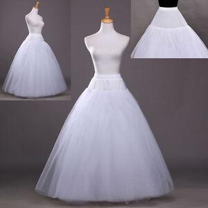 Beauty 3 Layer Bridal Petticoat Crinoline Long Wedding Dress Underskirt White